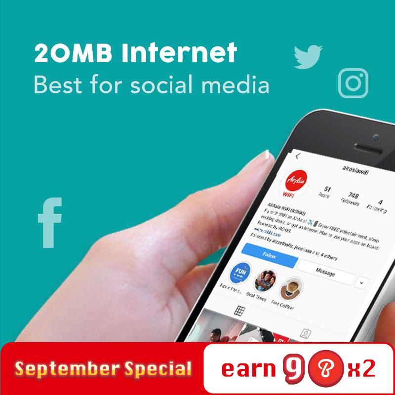 Internet Plan - 20MB
